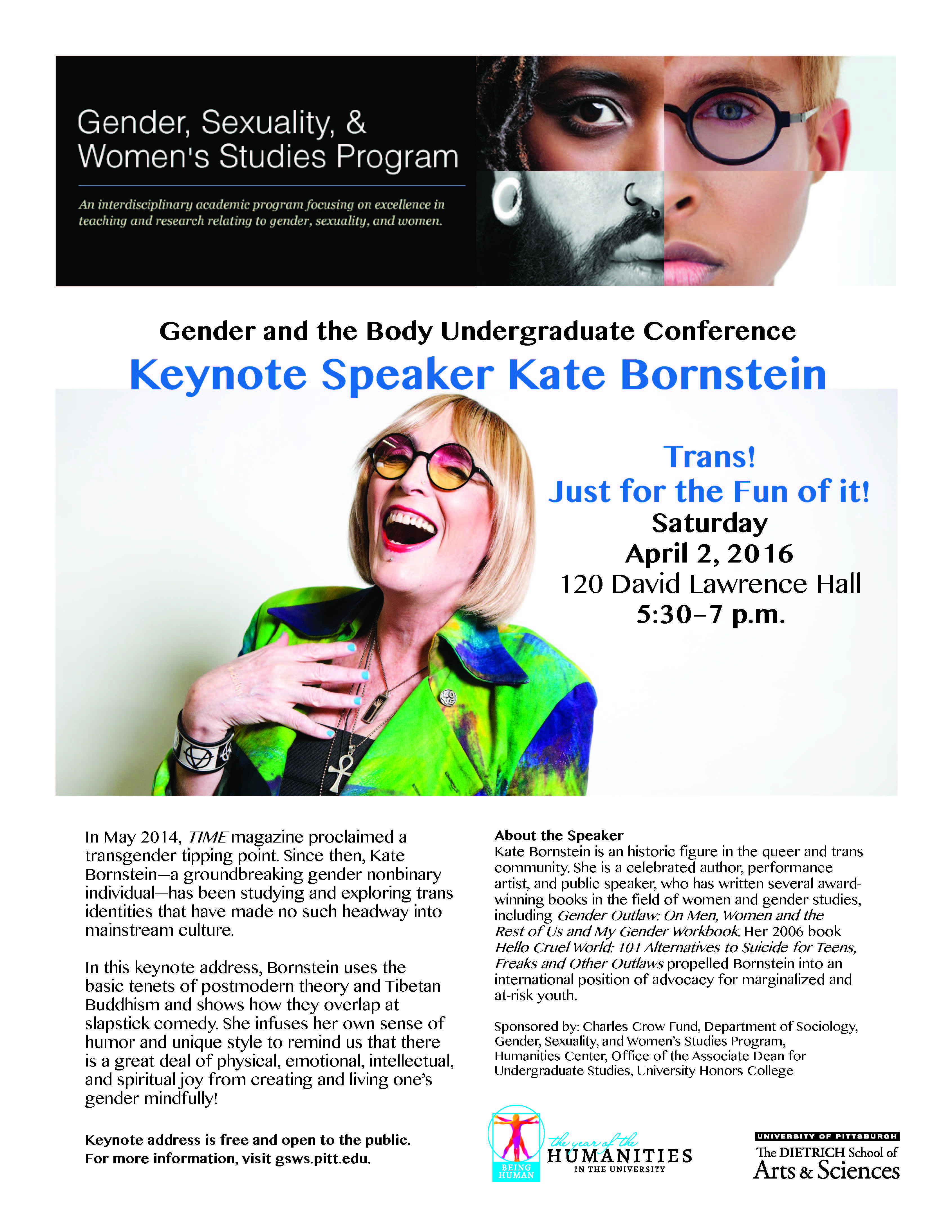 Keynote Address by Dr. Kate Bornstein